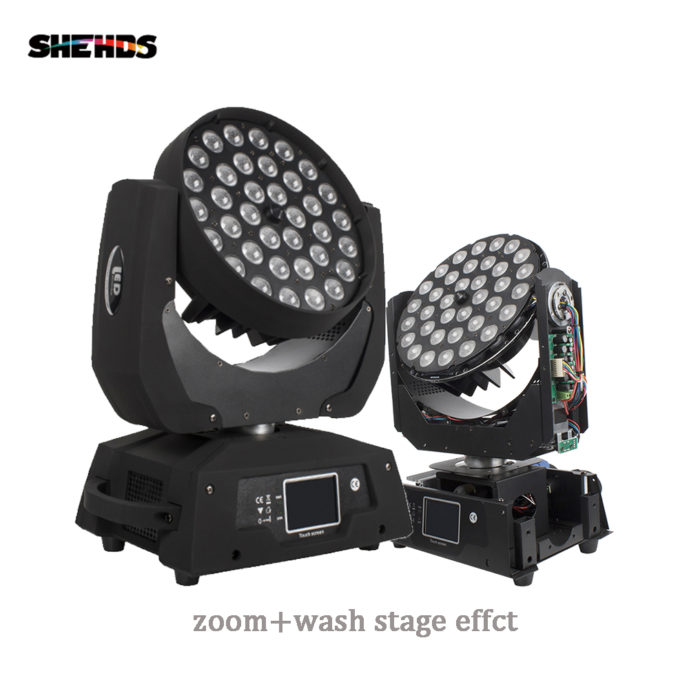 Fast Shipping LED Wash Zoom Moving Head Light 36x18W RGBWA+UV 6IN1 Touch Screen DMX 18 Channels Good For DJ Disco Party Bar