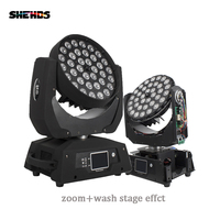 Fast Shipping LED Wash Zoom Moving Head Light 36x18W RGBWA+UV 6IN1 Touch Screen Lyre 36x12W DMX 18 Channels DJ Disco Party Bar