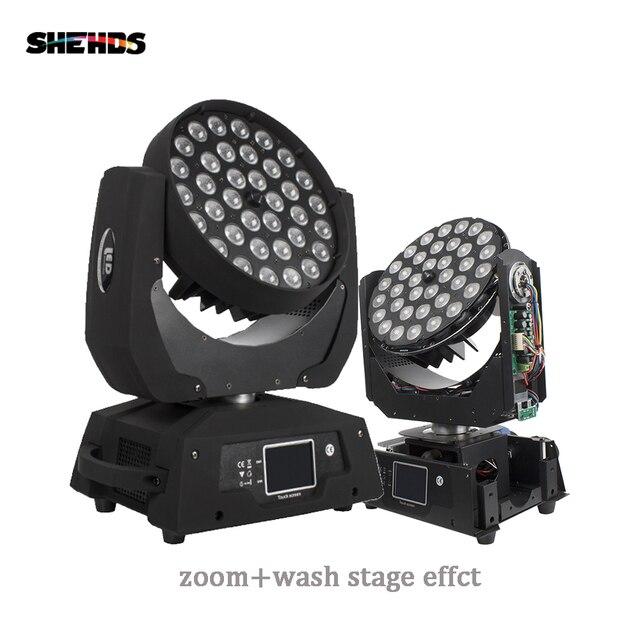 משלוח מהיר LED לשטוף זום הזזת ראש אור 36x18W RGBWA + UV 6IN1 מגע מסך נבל 36x12W DMX 18 ערוצים DJ דיסקו המפלגה בר