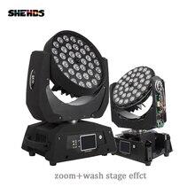 Szybka wysyłka LED Wash Zoom reflektor z ruchomą głowicą 36x18W RGBWA + UV 6w1 ekran dotykowy lira 36x12W DMX 18 kanałów DJ dyskoteka Bar