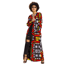 Long Coat Women Fashionable and Casual Printed with Belt Slim Ropa Mujer Trench Gothic Overcoat