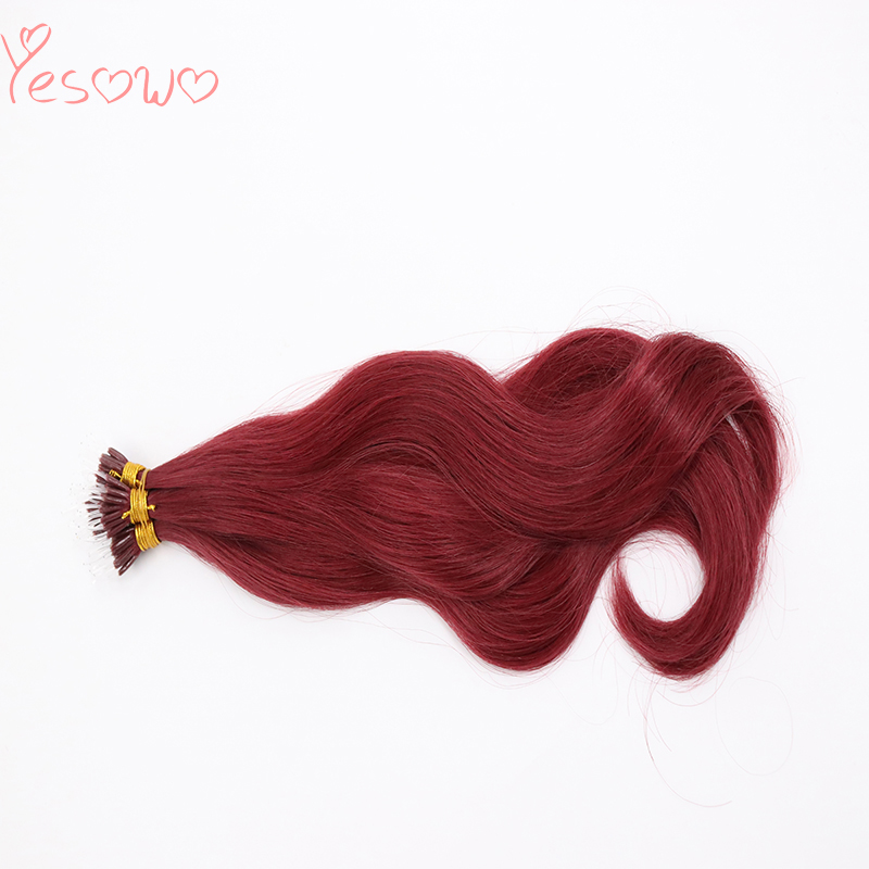 Yesowo 1.0g/strand Natural Looking Wavy Plastic I Tip Fashion 530# Pre Bonded Brazilian Human Hair Extension Fusion Hair