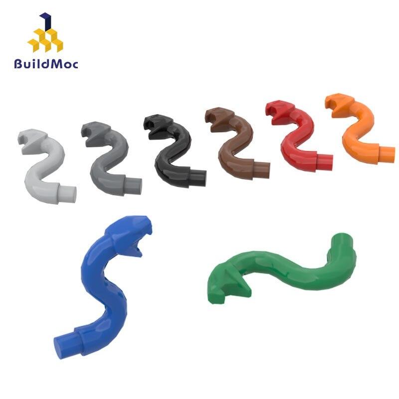 BuildMOC Compatible Assembles Particles 28588 Snake Decoration Building Blocks Parts DIY LOGO Educational Creatives Gift Toys