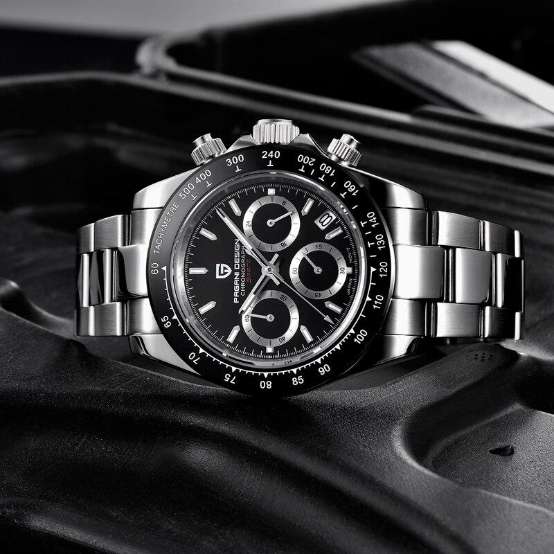 PAGANI DESIGN 2019 nouveau hommes montres Quartz affaires montre hommes montres haut de gamme de luxe montre hommes chronographe Relogio Masculino - 5