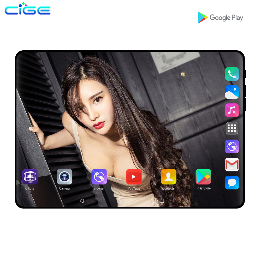 10.1 Inch Tablets Octa Core 6GB RAM 128GB ROM Android 9.0 Dual SIM Cards 3G 4G LTE Phone Call WiFi Bluetooth 10 Tablet PC