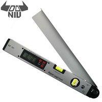 DANIU 400 мм 16 дюймов электронный транспортир 0-225 градусов Цифровой угловой измеритель уровня электронный транспортир с ЖК-дисплеем