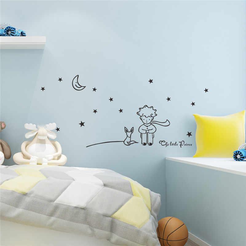 Le petit Prince étoile lune Sticker Mural enfants bébé chambre de bébé décor enfant cadeau vinyle décalque décoration murale Art