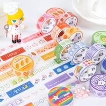 Kawaii Girl Pocket Series маскирующая васи лента DIY декоративная клейкая лента для дневник в стиле Скрапбукинг Украшение милые канцелярские принадлежности