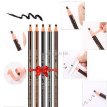 6pcs Waterproof 1818 Eyebrow Pencil Microblading Peel-off Black Grey Brown Light Natural Color