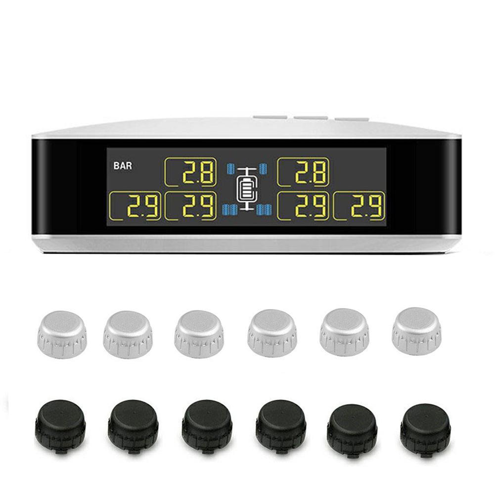 TPMS Drahtlose Reifendruck Überwachung System Alarm Für Auto Pickup Lkw Echt-zeit Alarm Druck Und Temperatur LCD Display