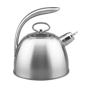Image 5 - 3L Stahl Wasser Kochen Wasserkocher 304 Pfeife Wird Kapazität Kochendem Wasser Wasserkocher Haushalt Flachen Boden Kohle Gas Elektromagnetische Ofen