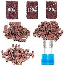 Bandes de ponçage pour lime à ongles électrique, 100 pièces, 80 /120/180 , accessoire pour Machine à ongles électrique, mèches