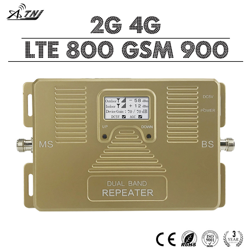 4G LTE 800 GSM 900 Dual Band Cell Phone Signal Boster