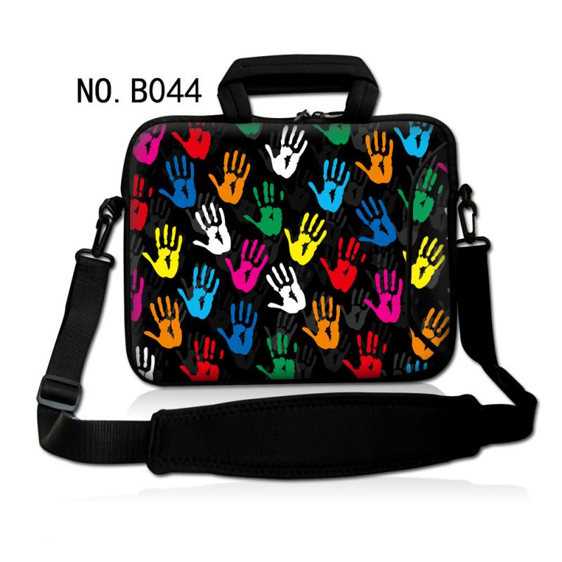 "Colorful Hands Neoprene Laptop Shoulder Bag 7 10 12 13 14"" 15 15.6 17.3 Sleeve Case Pouch Laptop Notbook Cover Handbag"