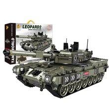 1747Pcs WW2 Swat Military Tank Bricks Weapons Tank German Leopard 2 Tank Building Blocks Model Building Kits For Kids assemble ph35005 1 35 russia 279 engineering nuclear tank blocks kits