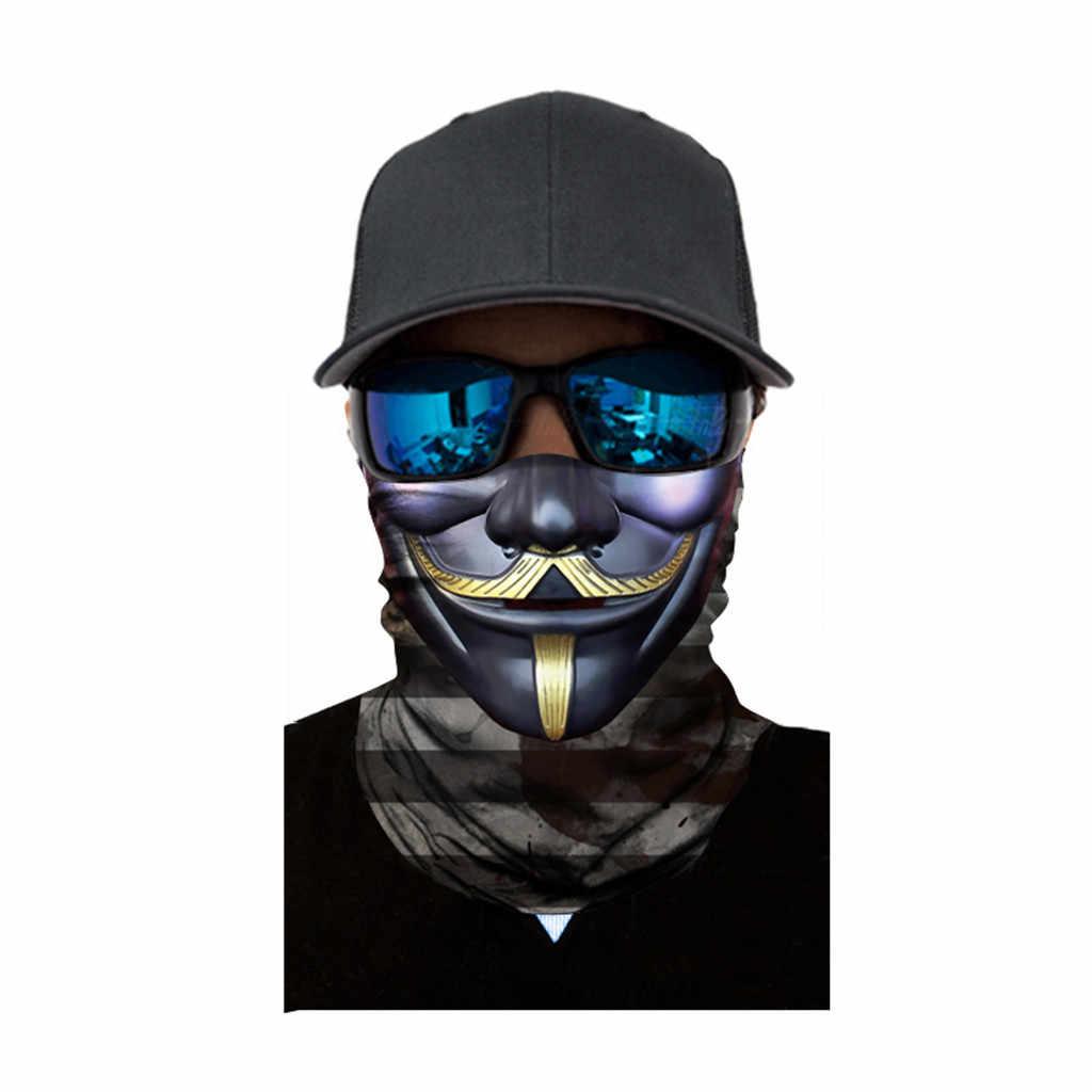 Kolarstwo ocieplacz na zimę zewnętrzna maska narciarska Unisex szalik na głowę szyi drukowane motocykl pałąk kominiarka polowanie Bycycle maska rowerowa