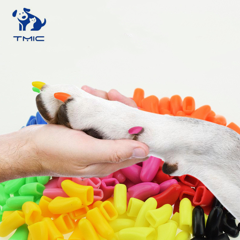 20 Pcs Dog cat Anti-scratch Nail Caps Soft Silicone Paw Nail Cover Puppy Claw Decoration Manicure Nail Art Dog Claw Cat Supplies