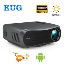 900DAB Full HD 1920x1080P projektor 7200 lumenów kino LED LCD Proyector Android WiFi Bluetooth HD w kinie domowym 3D Beamer tanie tanio CAIWEI Korekcja ręczna CN (pochodzenie) Projektor cyfrowy 16 09 160w 1920x1080 dpi 7000 lumenów 40-200 cali Led light