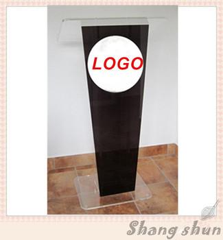 Gorąca sprzedaż kościelna mównica Podium ambona Rostrum akrylowa przezroczysta mównica akrylowa mównica akrylowa Podium ambona tanie i dobre opinie Meble sklepowe Other Meble biurowe Recepcja 60cm x40cmx120cm School Furniture Commercial Furniture Acrylic PMMA Perspex Plexiglass Lucite