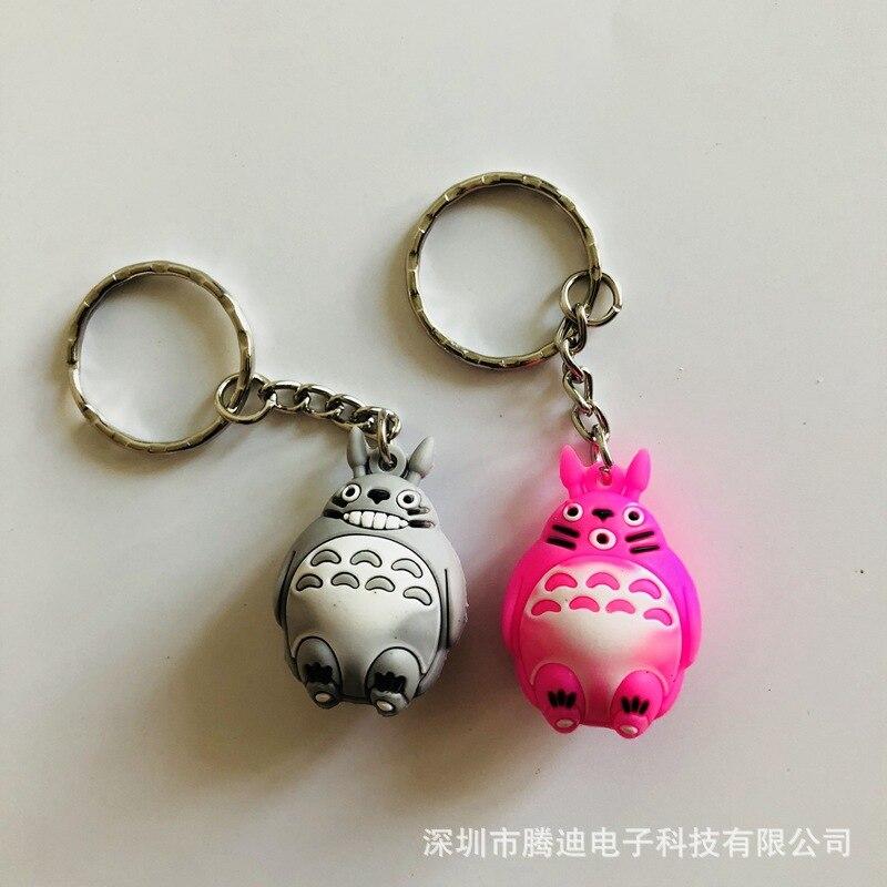LLavero de PVC de cosplay de dibujos animados Miyazaki Hayao mi vecino Totoro moda lindo anime silicona para llaves bolsa colgante regalo de joyería