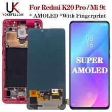 """מקורי AMOLED 6.39 """"עבור Xiaomi Mi 9t LCD תצוגת מסך מגע Digitizer עצרת LCD להחליף Redmi K20 פרו lcd mi 9t Pro lcd"""