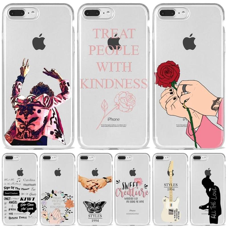 Harry Styles tratta le persone con la custodia gentile per iPhone 11 12 Mini Pro MAX X XR 7 8 6s SE Plus Cover in Silicone morbido trasparente