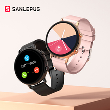 2021 NEW SANLEPUS ECG Smart Watch Bluetooth Call Men Women Waterproof Smartwatch Heart Rate Monitor For Android Samsung SW33 cheap CN(Origin) Android OS On Wrist All Compatible 128MB Passometer Fitness Tracker Sleep Tracker Message Reminder Call Reminder