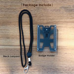 Image 5 - zayex Badge Holder Wallet Durable ID Card Holder with Lanyard  Clip for Offices, School,Driver Licence, Holds 1 4 Cards