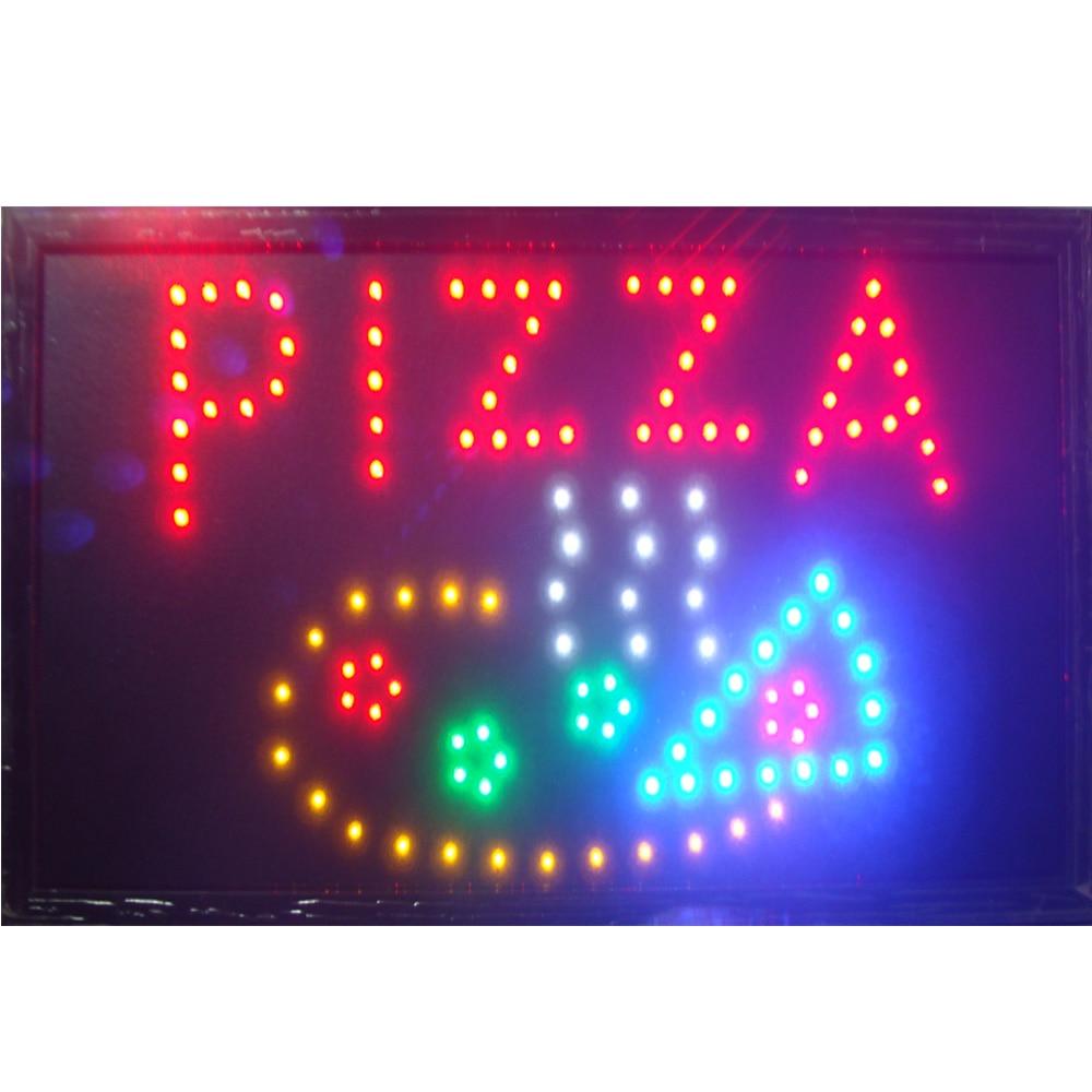 Pizza Store Open Business Neon Sign Size 10x19 inch Ultra Bright - Dekorace interiéru