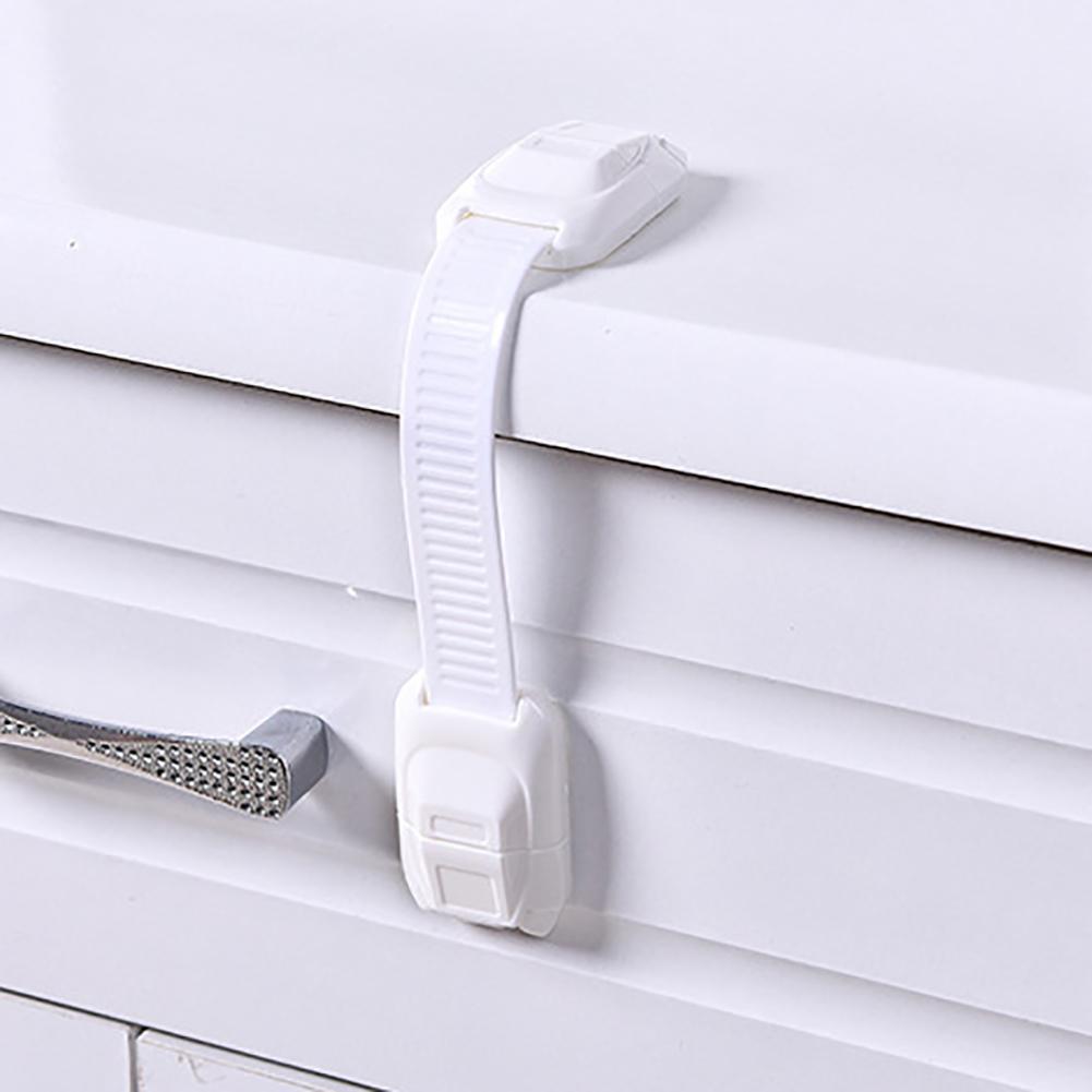 Adjustable Adhesive Cabinet Drawer Fridge Door Children Baby Safety Lock Latch New