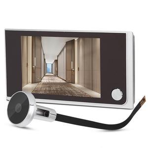 Image 2 - 3.5 inç Video peephole dijital kapı kamera kapı zili 120 derece açı Peephole görüntüleyici video göz kapı kapı zili açık kapı zili