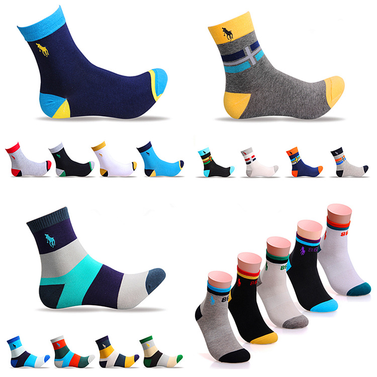 Socks Men 2019 Tube Socks Embroidered Men's Socks Winter Wholesale Color 1 Socks Business Socks Casual Comfortable