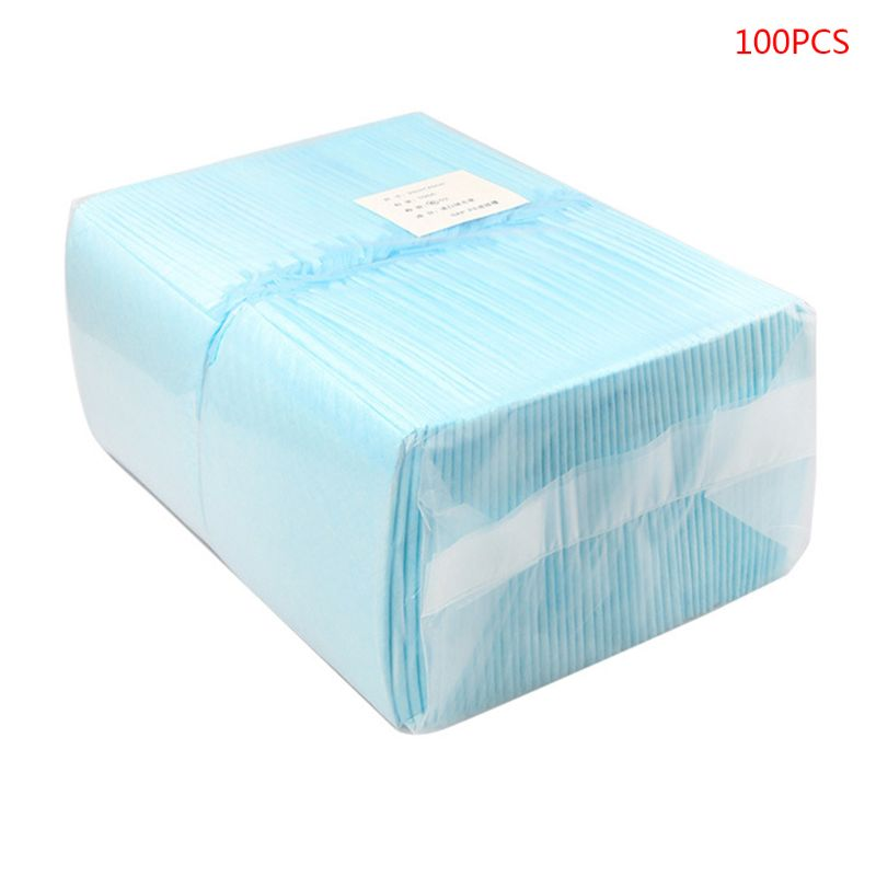 100 PCs/Set Disposable Baby Diaper Changing Mat for Infant or Pets Soft Waterproof Breathable Newborn Changing Pad Nappy