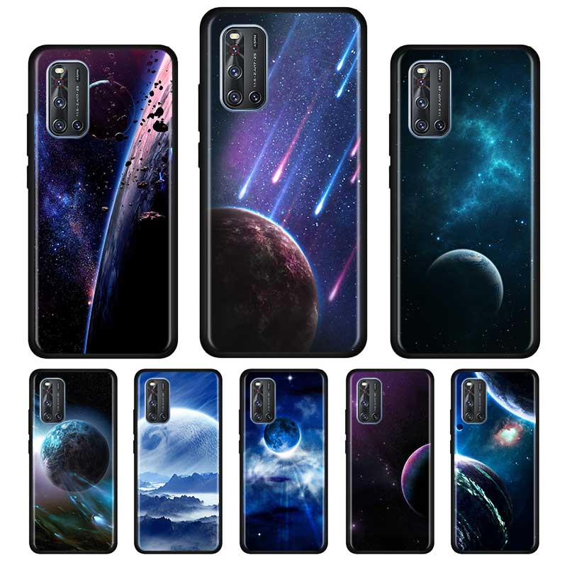 Stars Moon Planet Space Silicone Soft Case For Vivo S1 Y15 Pro Y12 Y17 Y19 Y30 Y50 V19 Z6 5G Iqoo Z1 3 5G Case Shell