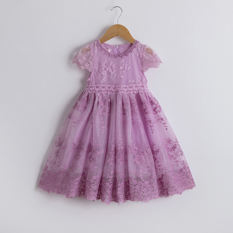 Summer Lace Girls  Dress Floral Dresses Elegant Children Dresses Casual Teens Birthday Party Dress Vestido Infantil 3 8 Years