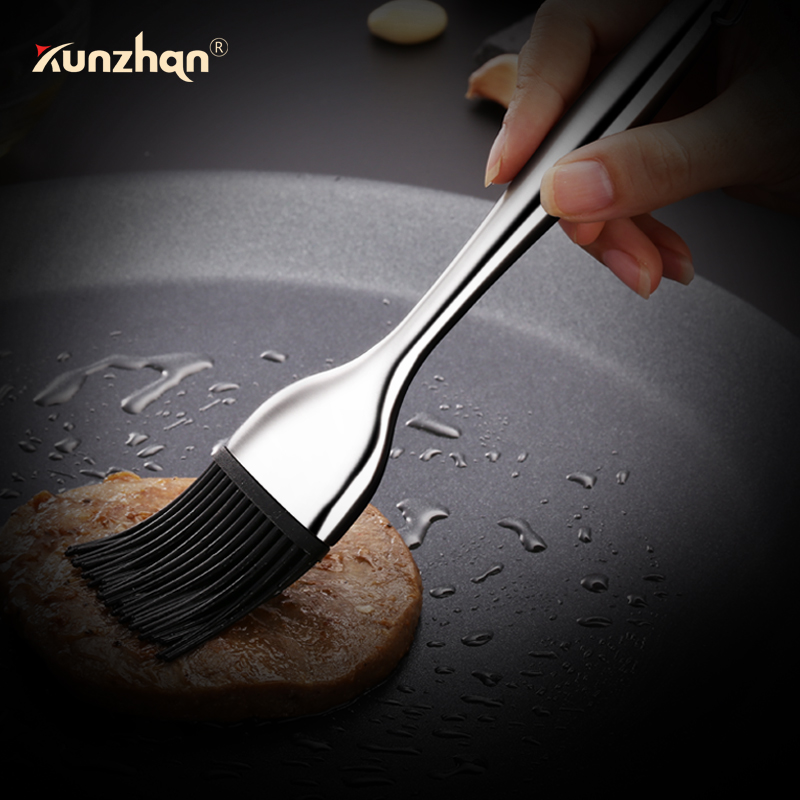 Silicone Oil Brush Kitchen Cooking Brush Stainless Steel Handle Heat Resistance Non-stick Pan Bbq Tools Basting Brushes