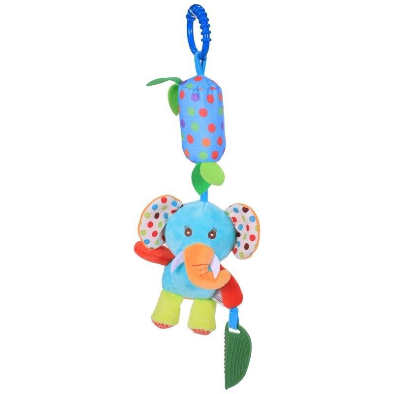 Baby Hanging Toys Puppet Handbells Baby Car Crib Stroller Toys Elephant