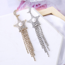 VERY GIRL Shiny CZ Rhinestone Charm Dangle Earrings for Women Fashion Star Tassel New 2019