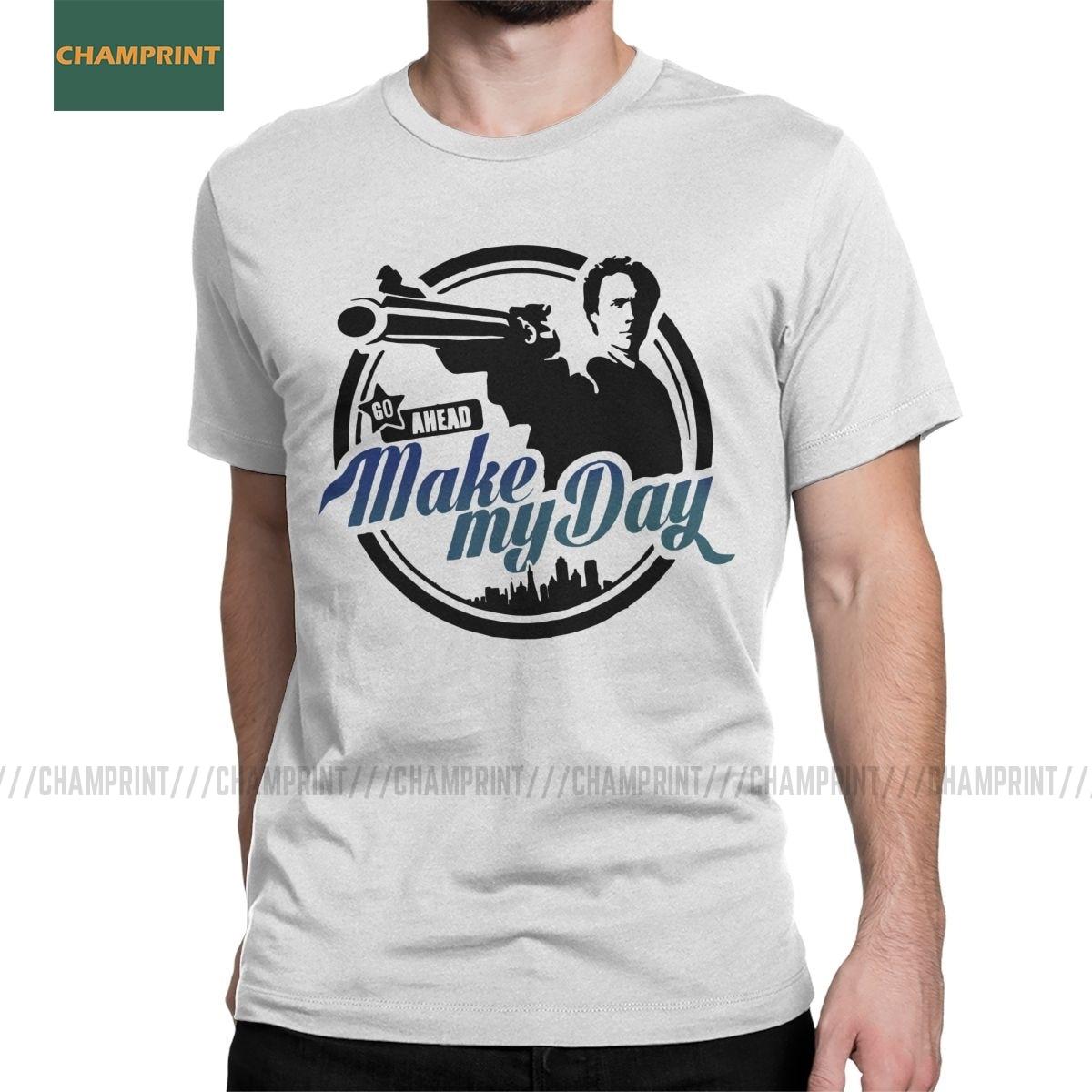 Rendre ma journée sale Harry hommes t-shirt Clint Eastwood film tueur nouveauté T-Shirts à manches courtes pur coton imprimé hauts