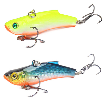 1 PCS 7 cm/18G Artificial Japanese Tomb VIB Fishing Lure lead inside Hard Bait Diving Swivel Bait winter Sea Fishing Tackle