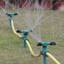 Lawn Pin Shaped Chassis Three Fork Sprinkler Water Spray Device Automatic 360° Rotating Garden Sprinklers Irrigation
