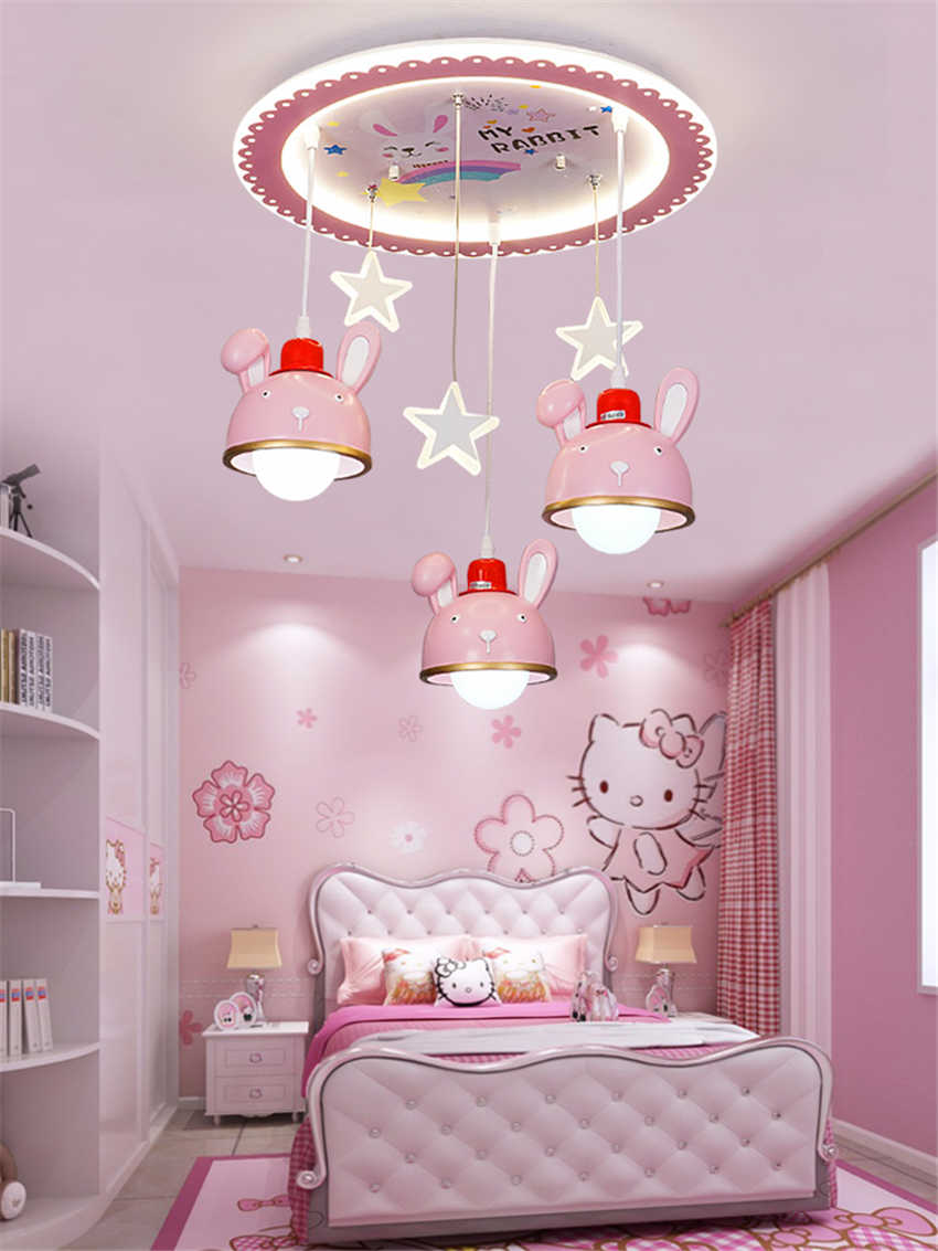 Prinzessinnen Schlafzimmer Rosa Kaninchen Sterne Decke Lichter Mädchen Zimmer Beleuchtung Kinderzimmer Licht Prinzessin Schlafzimmer Lampe Cartoon Nordic Led Decke Lampen|ceiling Lights| - Aliexpress