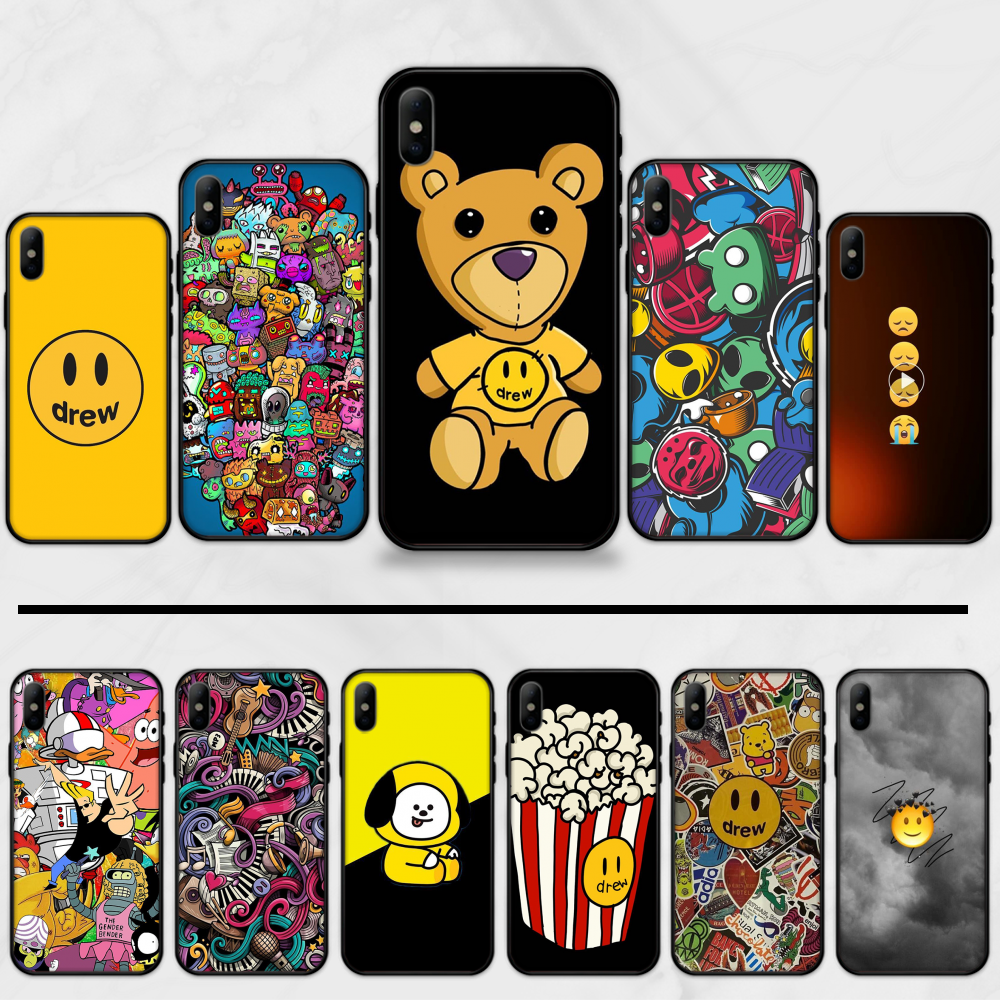 Justin Bieber Smiley face lovely cute pattern Coque Shell Phone Case For iphone 5 5S SE