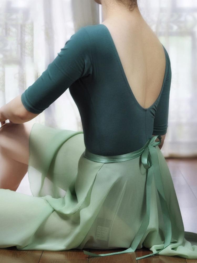 2019 justaucorps de ballet pour femmes demi manches justaucorps de danse performance adulte justaucorps scène ballet body combinaison dos nu
