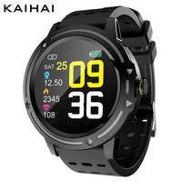 Reloj inteligente para hombre, reloj deportivo waterpoof, monitor de ritmo cardíaco, reloj inteligente con pantalla táctil, rastreador de Fitness para iphone android