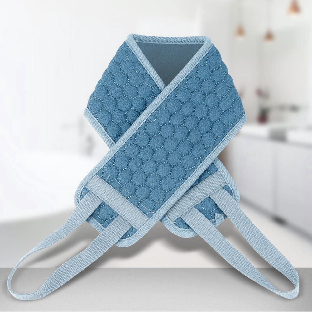 Bath Towel Pull Back Strap Exfoliating Back Scrubber Double-Sided Long Bath Towel Shower Loofah Body Skin Cleaning Bath