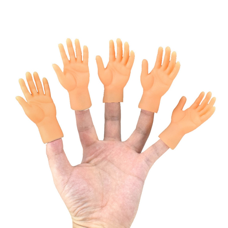 2 Pcs/set Novelty Funny Five Fingers Open Palms Finger Toys The Small Hand Model Left Right Tiny Hand For Game Party Costume