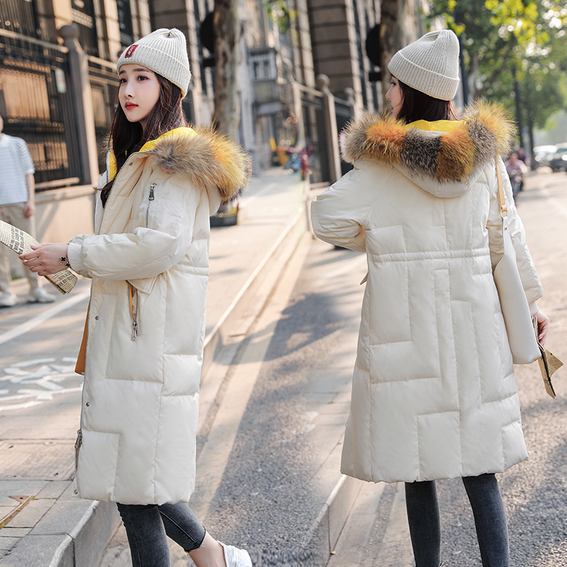 Women Winter Down Jacket Long Down Coat Female Large Fur Hooded Warm Clothes 2020 Thick Slim Ladies Jackets Hiver LW1470