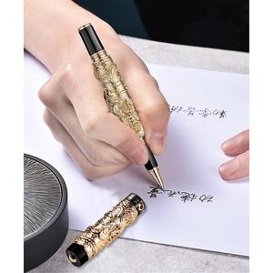 Image 5 - 高級jinhaoドラゴンボールペンヴィンテージメタル署名ペン0.7ミリメートルペン先canetaオフィス用品のギフトボックスセット材料アブラソコムツ