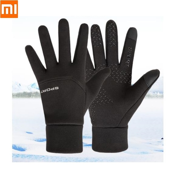Xiaomi Winter Touch Screen Warm Waterproof Windproof Plus Velvet Thickening Mountaineering Driving Riding Sport Stretch Gloves